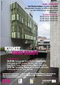 Plakat Kunst und Stadt