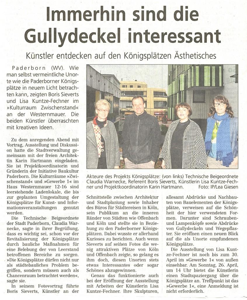 aus: Westfälisches Volksblatt, 13.04.2015, Foto: Stadt Paderborn, Lea Giesen