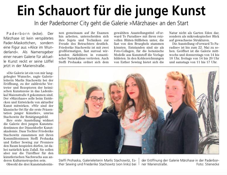 Westfälisches Volksblatt, 08.05.2015