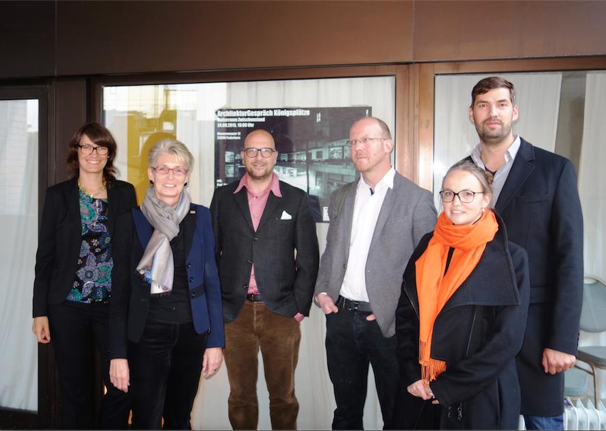 v.l.n.r.: Karin Hartmann (Moderation), Claudia Warnecke, Prof. Jörg Leeser, Ulrich Brinkmann, Avila Dietrich, Andreas Nolte